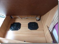 Bass Lautsprecher im Wohnwagen