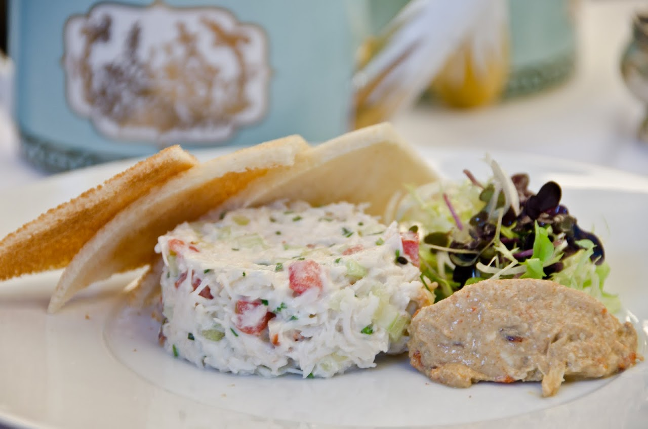 Crab salad at Fortnum & Masons