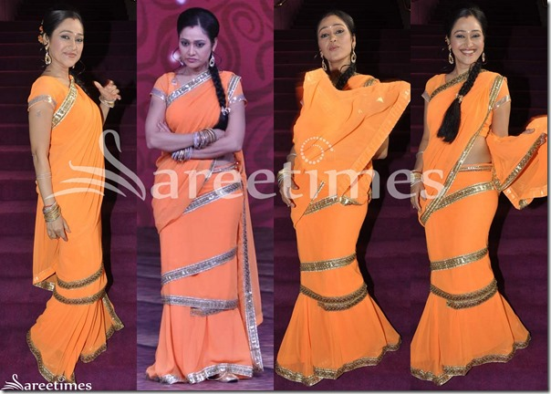 Orange_Designer_Saree