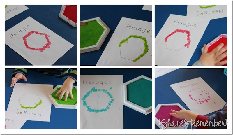 Hexagon shape in preschool