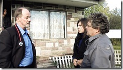 DR. WINTERS(Calgary actor Ace Hanna) HAS A HEART TO HEART TALK WITH BIRDMAN AND HIS DAUGHTER IN THE KILLING GAMES