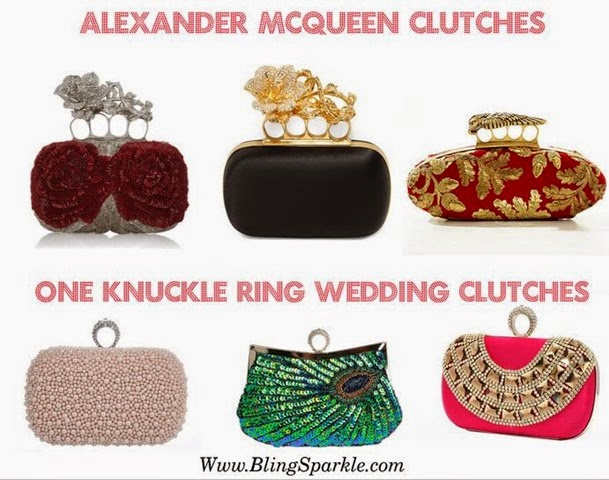 Alexander McQueen and wedding clutches