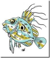 peces clipart blogolorear (7)