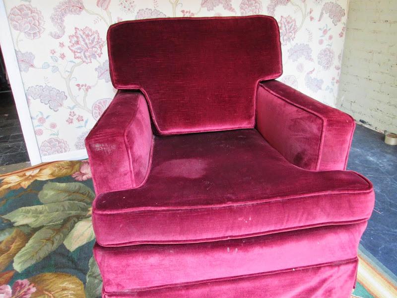 Merlot Velvet Lounge Chair