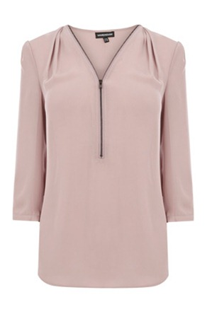 WH zip front blouse