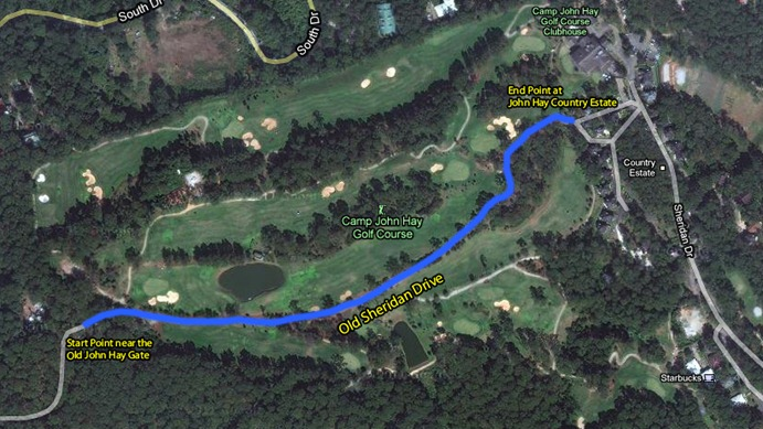 Our Walk Through Camp John Hay's Golf Course.  Click to View in Google Maps
