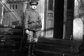 Soldat des Ersten Weltkrieges, Scan vom Glasnegativ, ca. 1914 - 1918