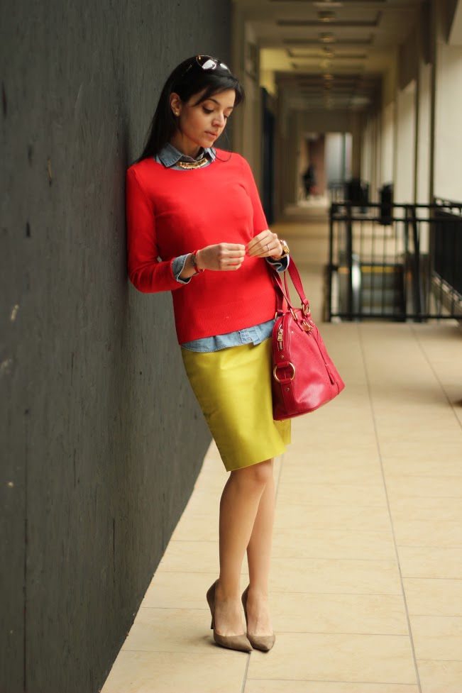 Red and Yellow Color Block