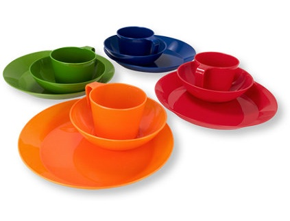 These colorful plate sets are hassle-free (like they would be at camp). Perfect for dinner with kids or picnics outdoors. (llbean.com)