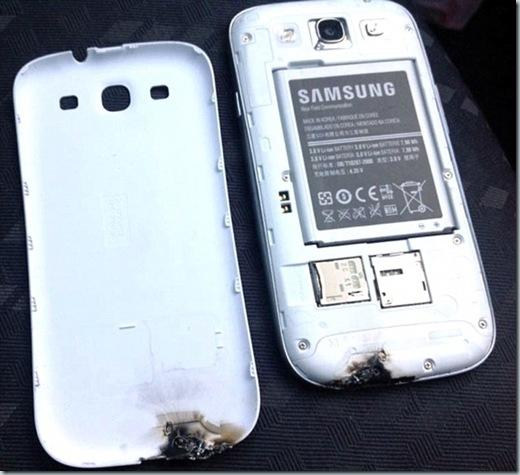 Galaxy S3 terbakar