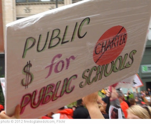 'CTU Strike: 'Public $ for Public Schools' Sign' photo (c) 2012, firedoglakedotcom - license: https://creativecommons.org/licenses/by-sa/2.0/