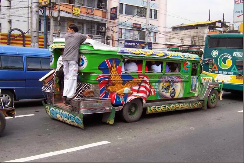 jeepney taxi ride phillippines