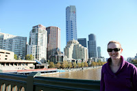 Kristy on the Princes Bridge