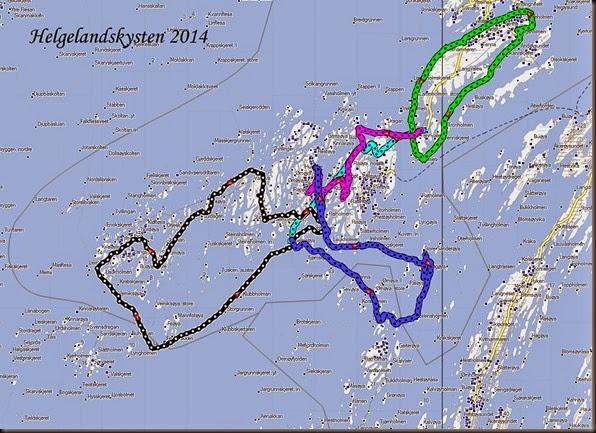 Padlekart Helgelandskysten 2014
