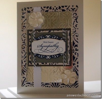 Navy and Silver Sympathy Card