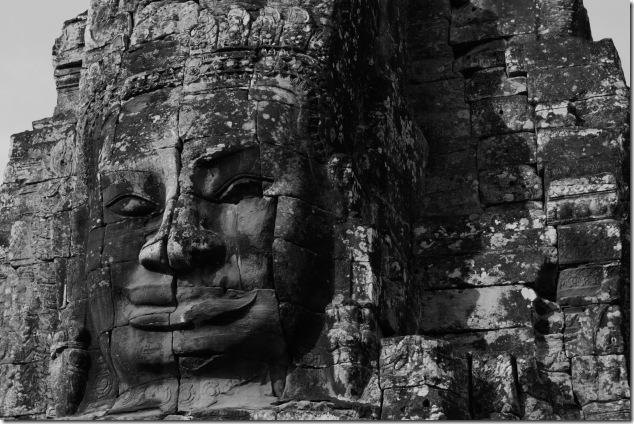 The stunning Bayon Temple, Cambodia