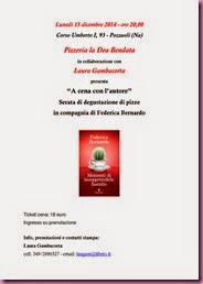 Locandina serata libro Federica