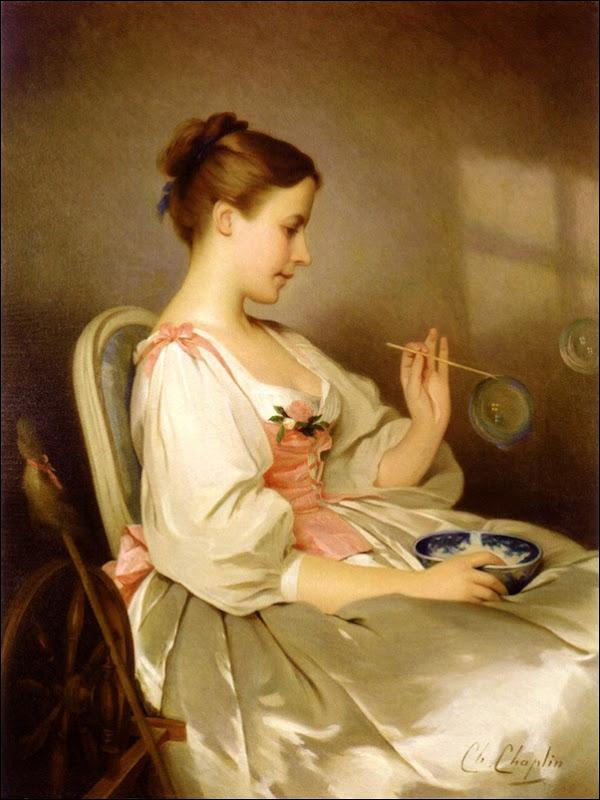 Charles Joshua Chaplin, Jeune fille aux bulles de savon 2ème version