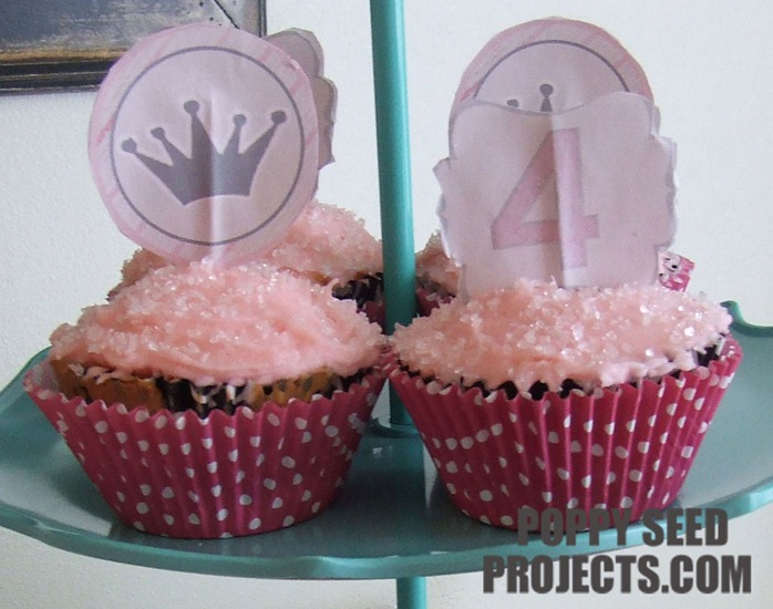 Princess-birthday-party-ideas-cupcake-toppers