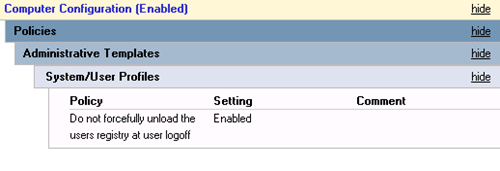 RegistrySetting