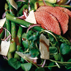 Roast beef, asparagus and Parmesan salad