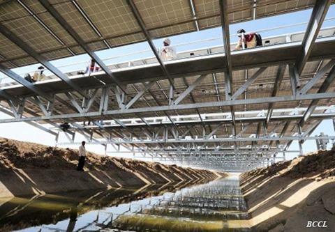 1MW canal-top solar power plant, Mehsana, Gujarat