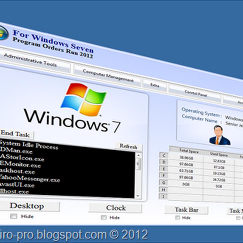 Program Orders Run برنامج لوحة تحكم الكمبيوتر
