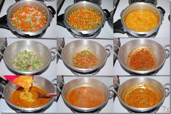 Pav bhaji process