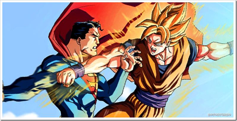 Pelea entre Superman y Goku