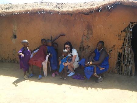 Imagini Kenya: Sat Masai - Kenya