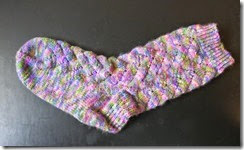 Easter Sock - Sock 1 Complete