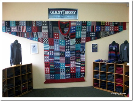 """Guinness book of records world record holding Giant Jersey in Geraldine. 7'3"""" high and 5' wide."""
