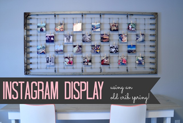 Instagram Photo Display Using an Old Crib Spring