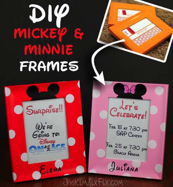 DIY Mickey and Minnie Frames