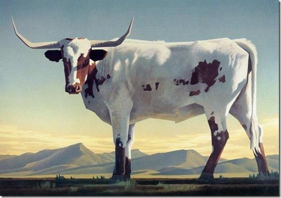 longhorns-Ed-Mell-Enkaustikos