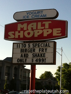 The Malt Shoppe Sign