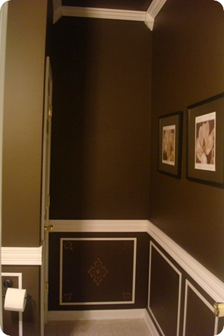 chocolate powder room