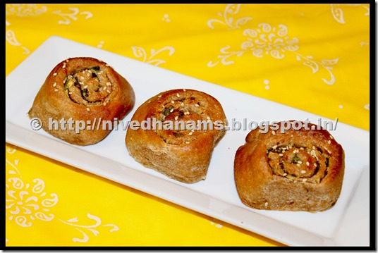 Whole Wheat Garlic Buns - IMG_3491