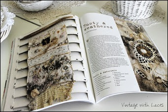 Vintage with Laces - Published in Art Quilting Studio