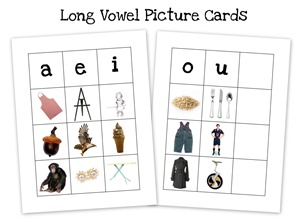 long vowel collage