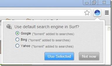 BitTorrent Surf indicare motore di ricerca torrent