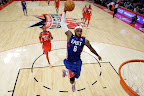 lebron james nba 130217 all star houston 43 game 2013 NBA All Star: LeBron Sets 3 pointer Mark, but West Wins
