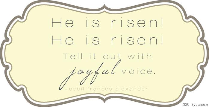 hi is risen