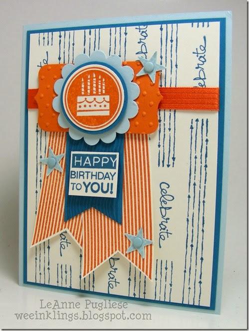 LeAnne Pugliese WeeInklings Stampin Royalty 240 Amazing Birthday Chalk Lines Good Greetings