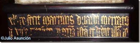 Inscripción de la Virgen de Huarte