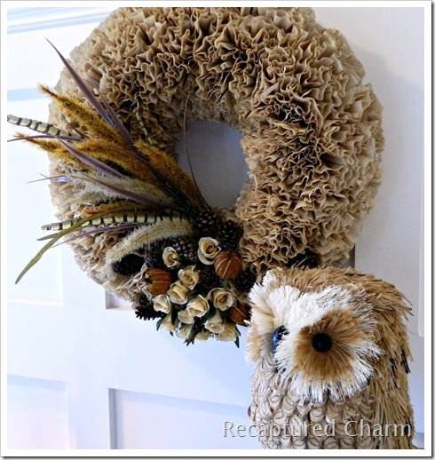 Fall Coffee Filter Wreath 034a