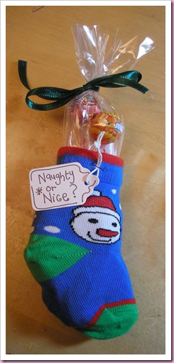 A Baby sock Christmas stocking