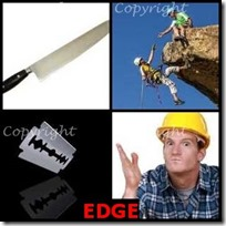 EDGE- 4 Pics 1 Word Answers 3 Letters