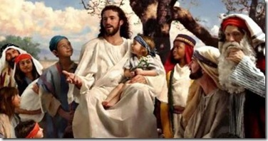 Jesus com uma crianca