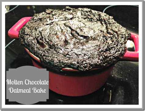 Molten Chocolate Oatmeal Bake